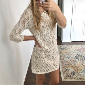 Everly- white lace dress